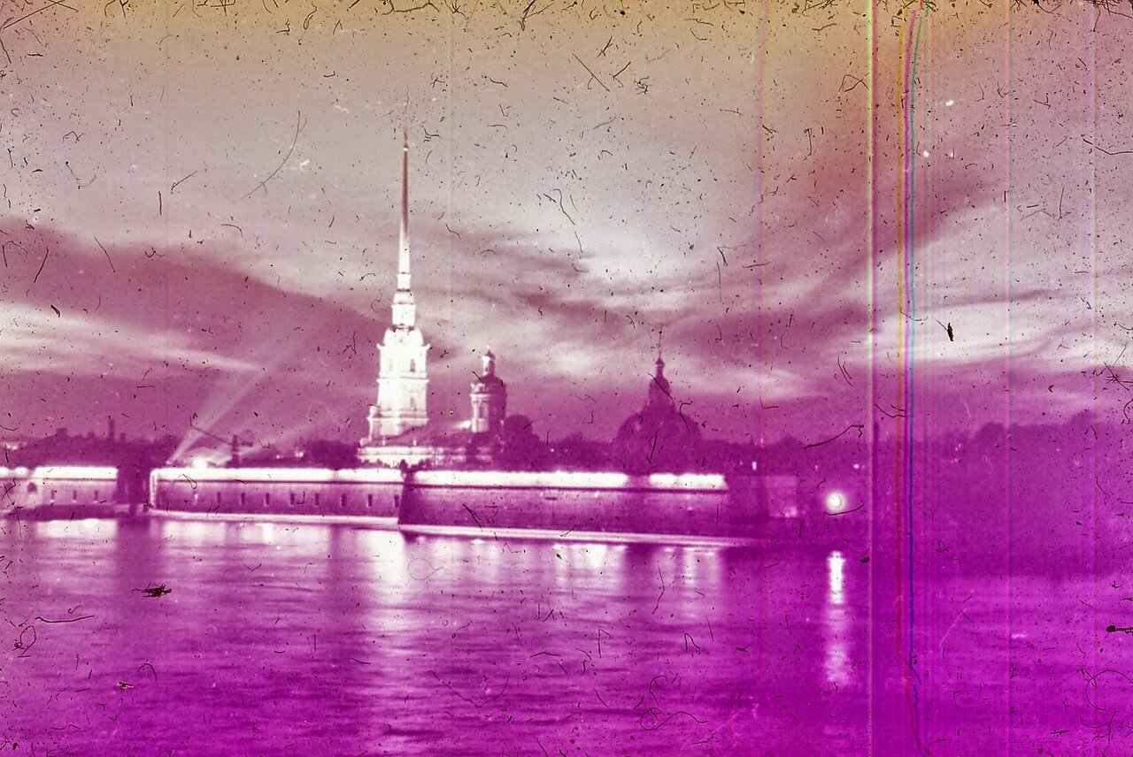 Ленинград. Нева ночью