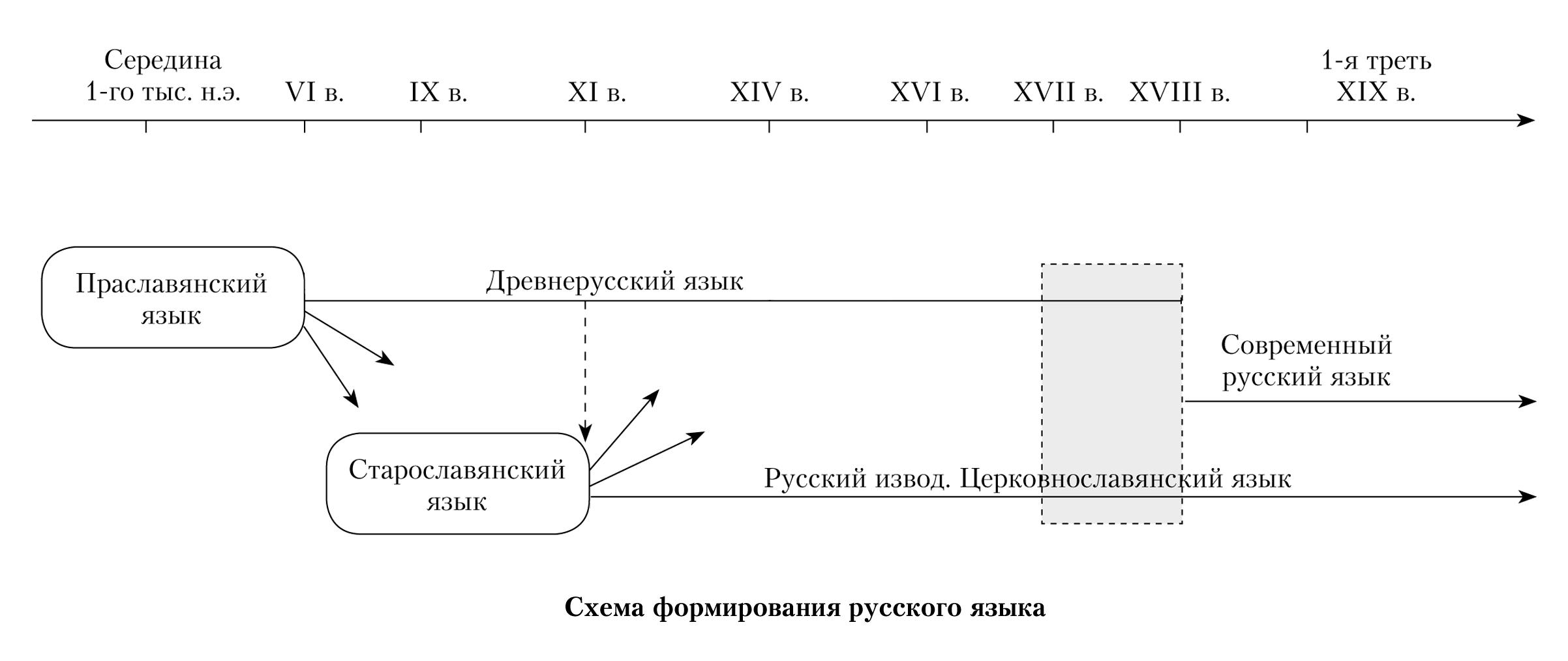 Схема развития русского языка фото 651