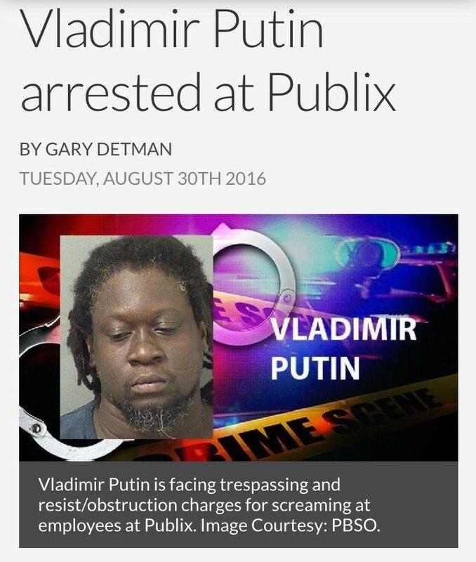 Во Флориде (США) арестовали Владимира Путина