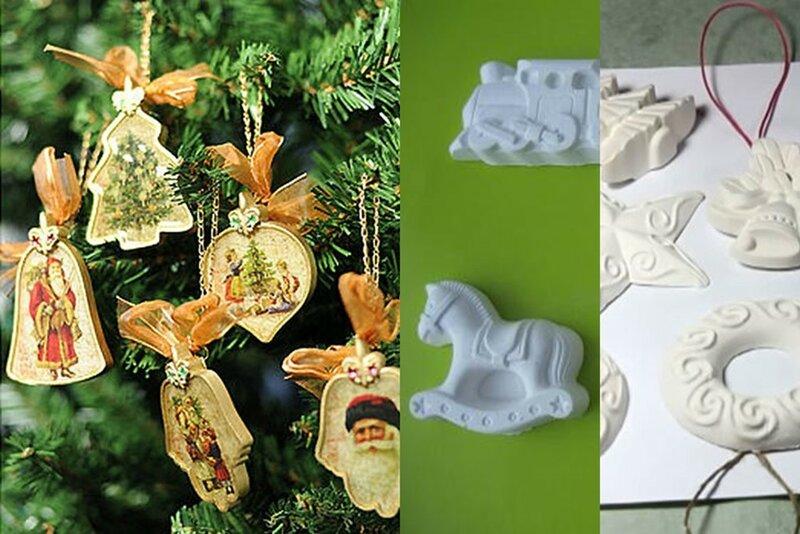 Новогодние игрушки своими руками – гипсовые фигурки на елку