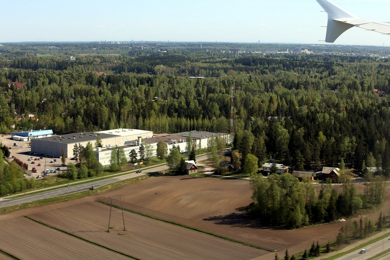 Аэропорт Хельсинки-Ванттаа и окрестности c воздуха