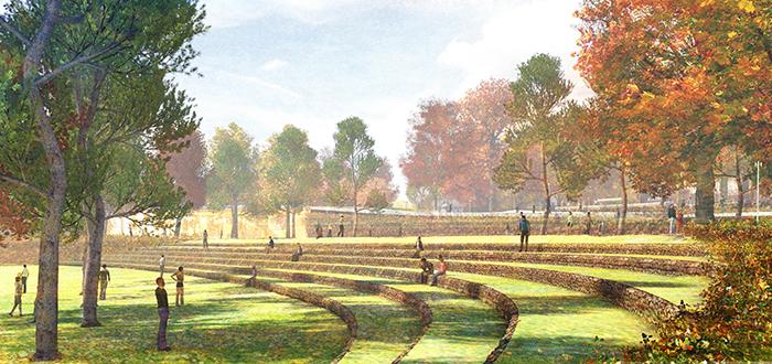 Грунт для ландшафта парка «Зарядье» в Москве