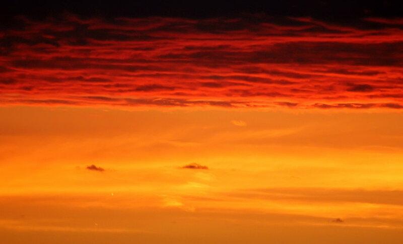 Небо на закате. Москва