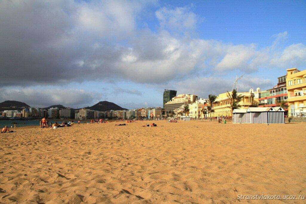 Пляж Лас Кантерас в Лас Пальмас де Гран Канария