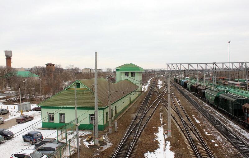 Станция Куровская, вид на Вековку