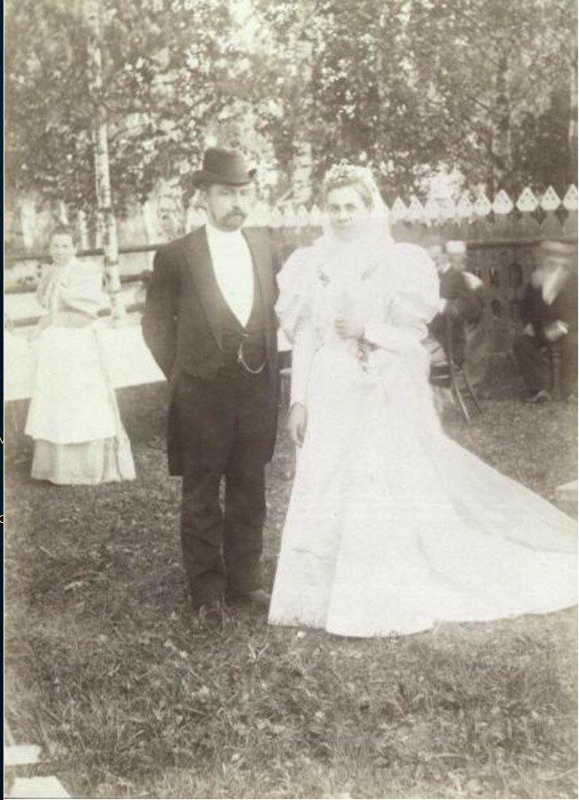 1900-е. Жених и невеста