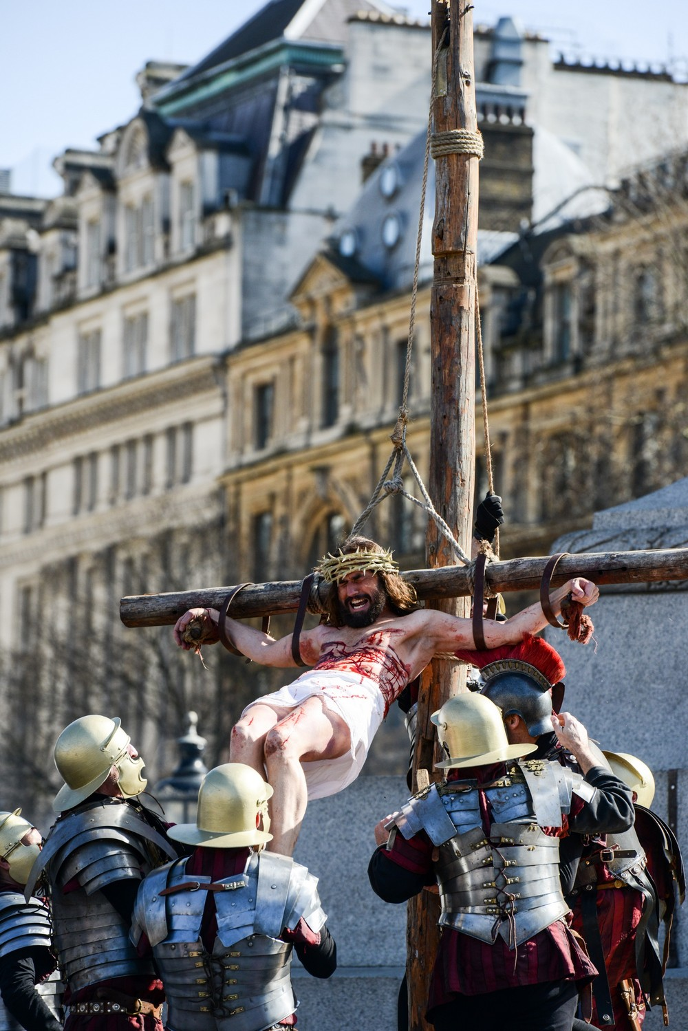 Actors From The Wintershall Estate Perform The Passion Of Jesus