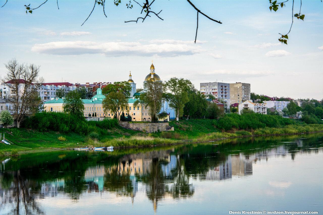 Полоцк. Западная двина. Богоявленский монастырь