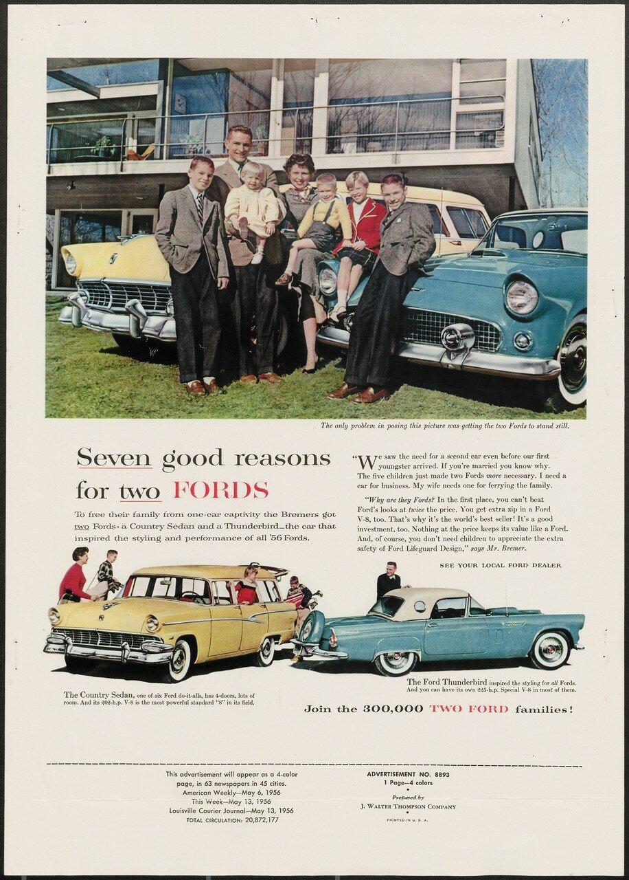 Ford Thunderbird на рекламном проспекте