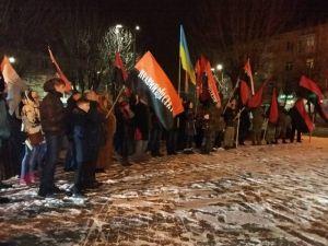 """Активисты Винницкого """"Пр····о се····а"""" почтили Проводника Степана Бандеру"""