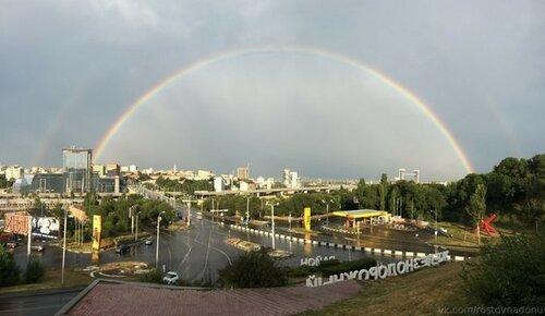 Фото радуги над Ростовом