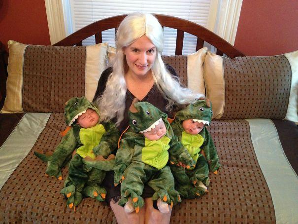 Дейенерис Таргариен и ее дракончики.