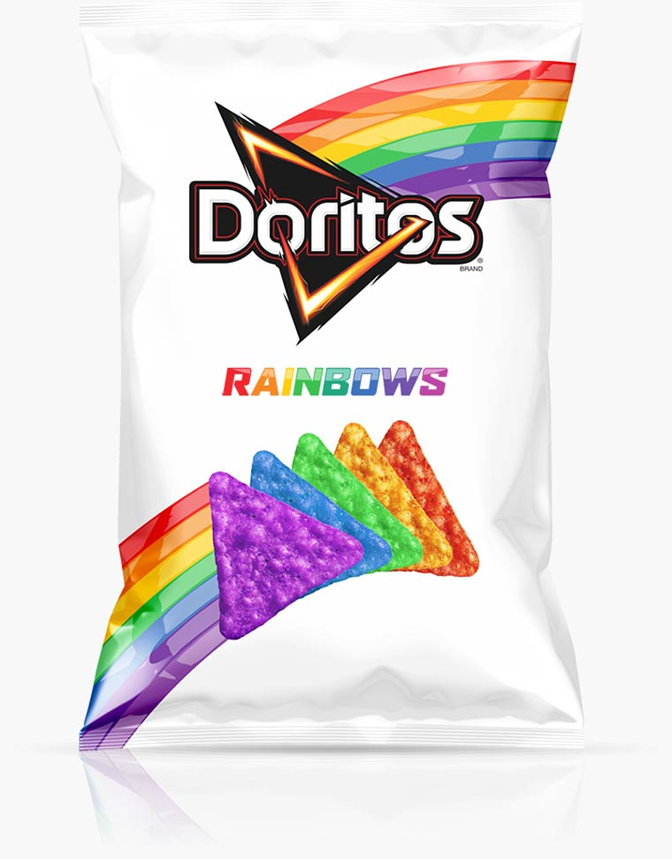 Rainbow Doritos - Some amazing rainbow chips to support the LGBT community