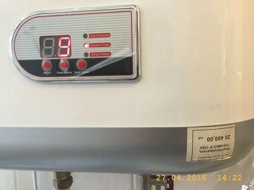 Включили титан на нагрев воды