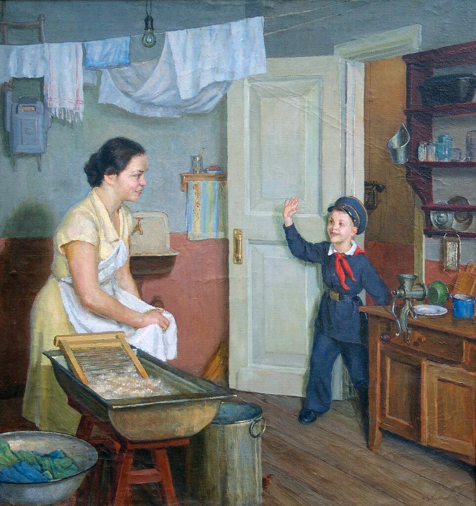 """Николай Заболотский """"Опять пятерка"""", 1954 год"""