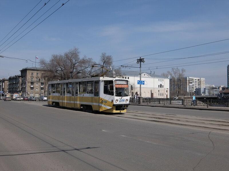 Новокузнецк - Проспект Металлургов - Трамвай