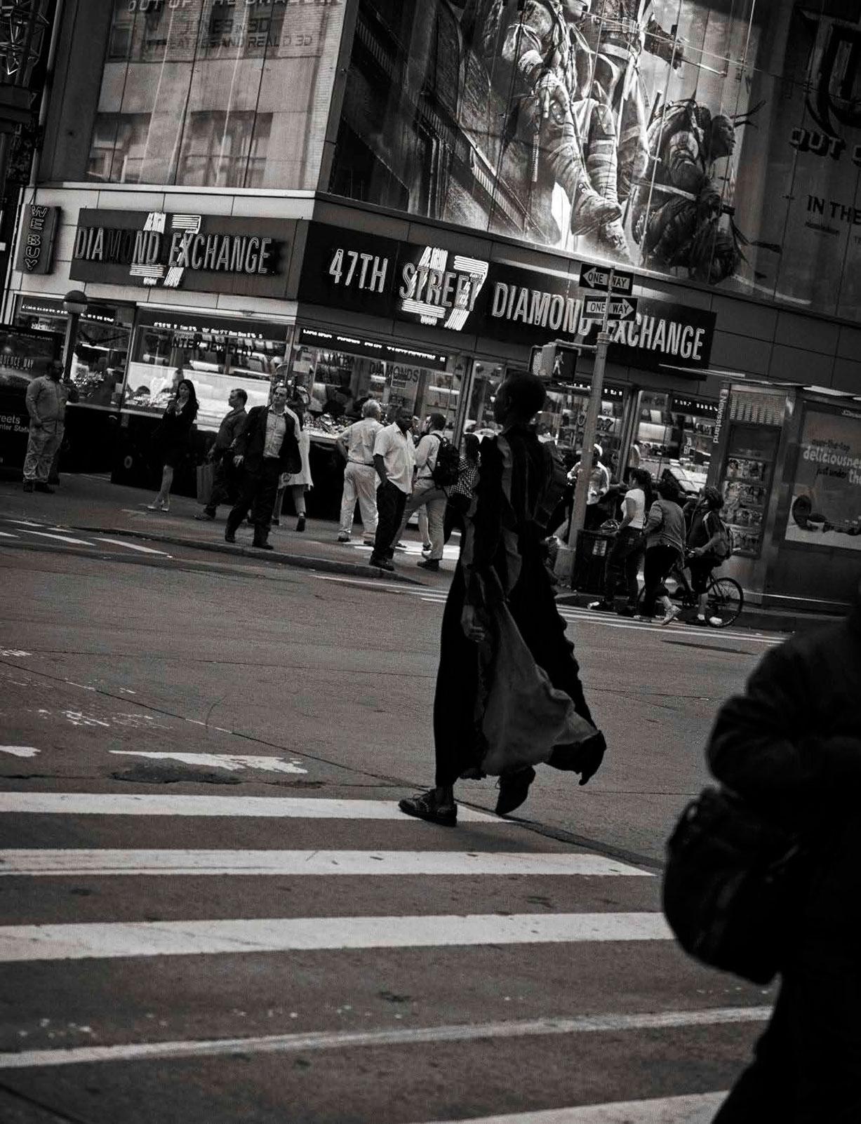 Alek Wek - Walking by Peter Lindbergh - Vogue Italia october 2016