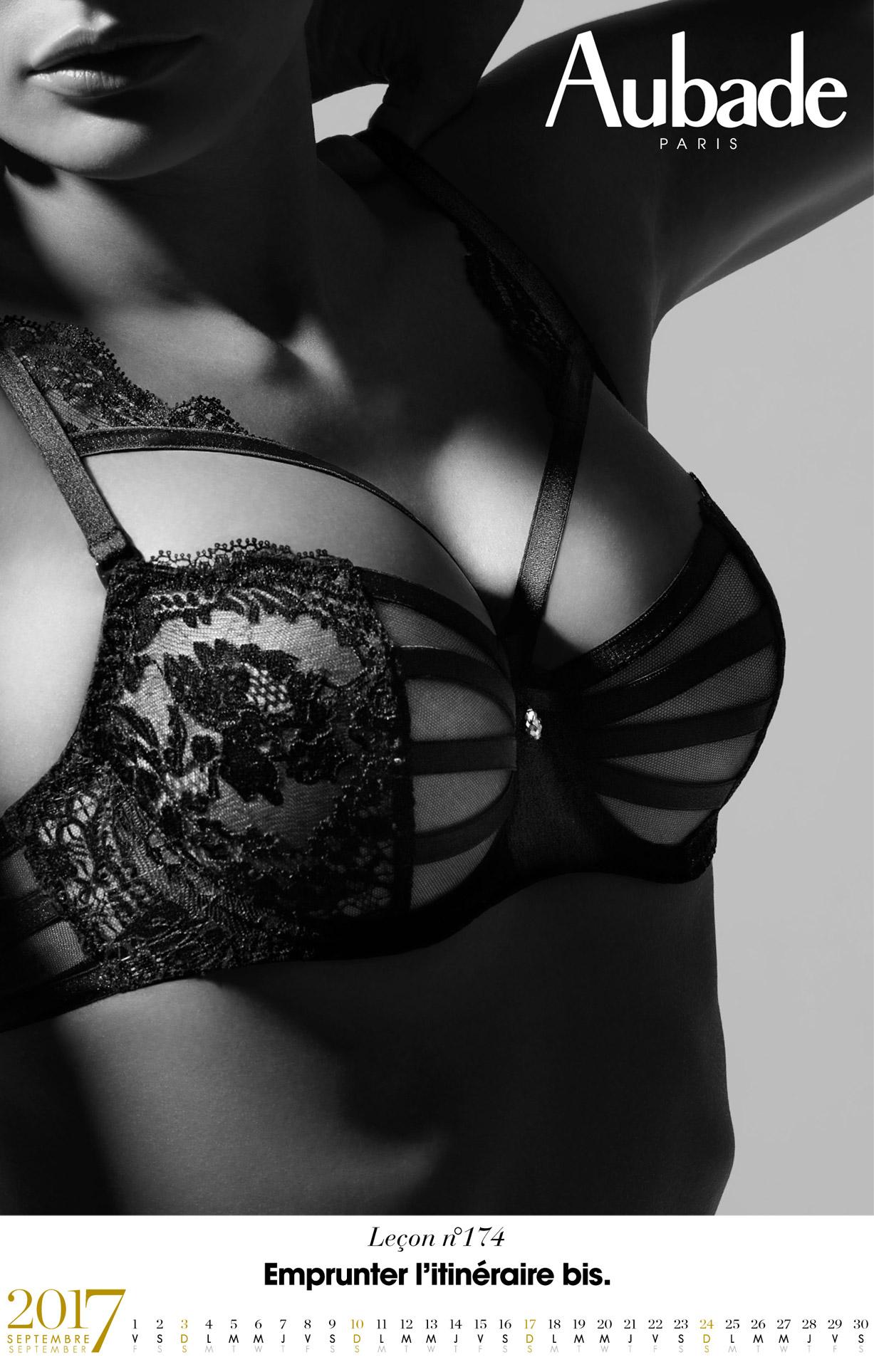 календарь сексуального нижнего белья Aubade 2017