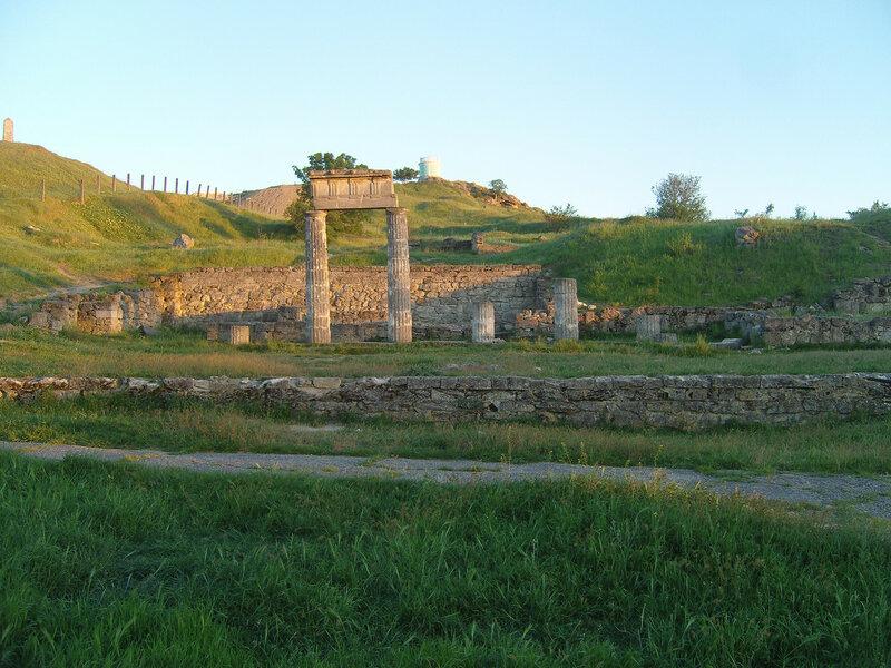 на горе Митридат. Руины Пантикапея