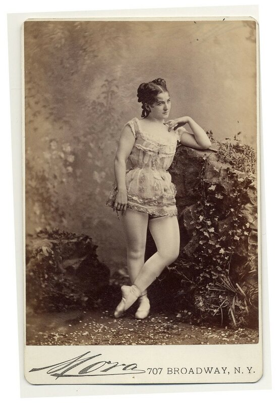 1890 Leontine wearing ballet shoes.