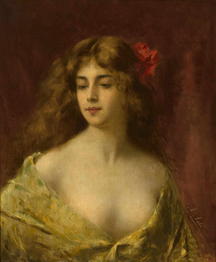Angelo Asti, 1847-1903. Матильда. 65.4 x 54.6 см.jpg