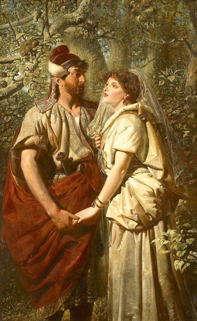 Edward Henry Corbould, 1815-1905. ����� � �������� � ���� ��������. 182.9 x 111.8 ��. ������� ���������.jpg