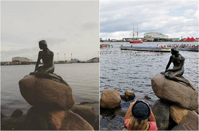 Статуя, расположена в порту Копенгагена, изображающая персонажа из сказки «Русалочка» Ганса Христиан