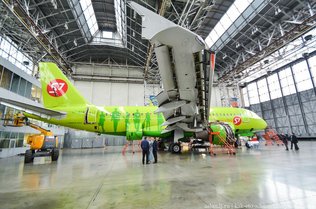 Как ремонтируют самолеты