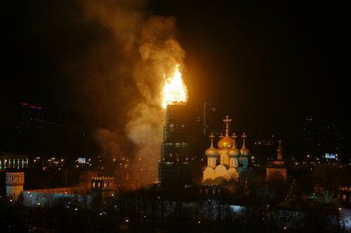 Пожар на колокольне