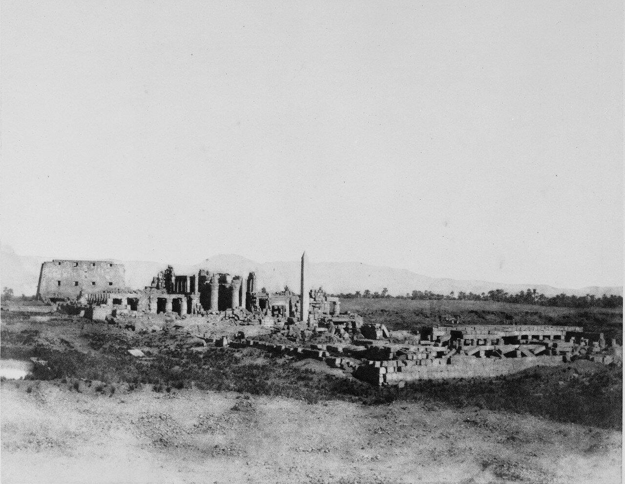 Карнак (Фивы). Общий вид развалин к юго-востоку. 1858