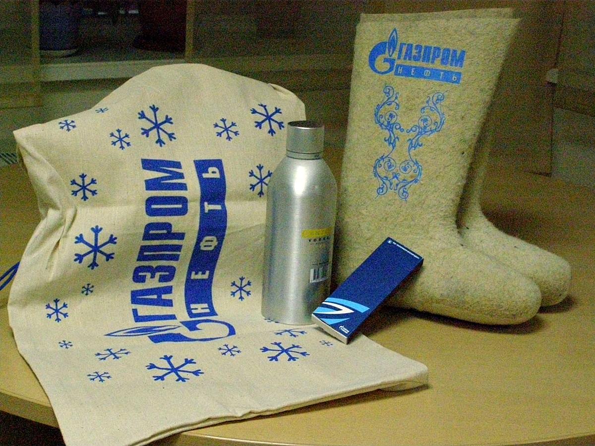 Новогодние подарки для газпром
