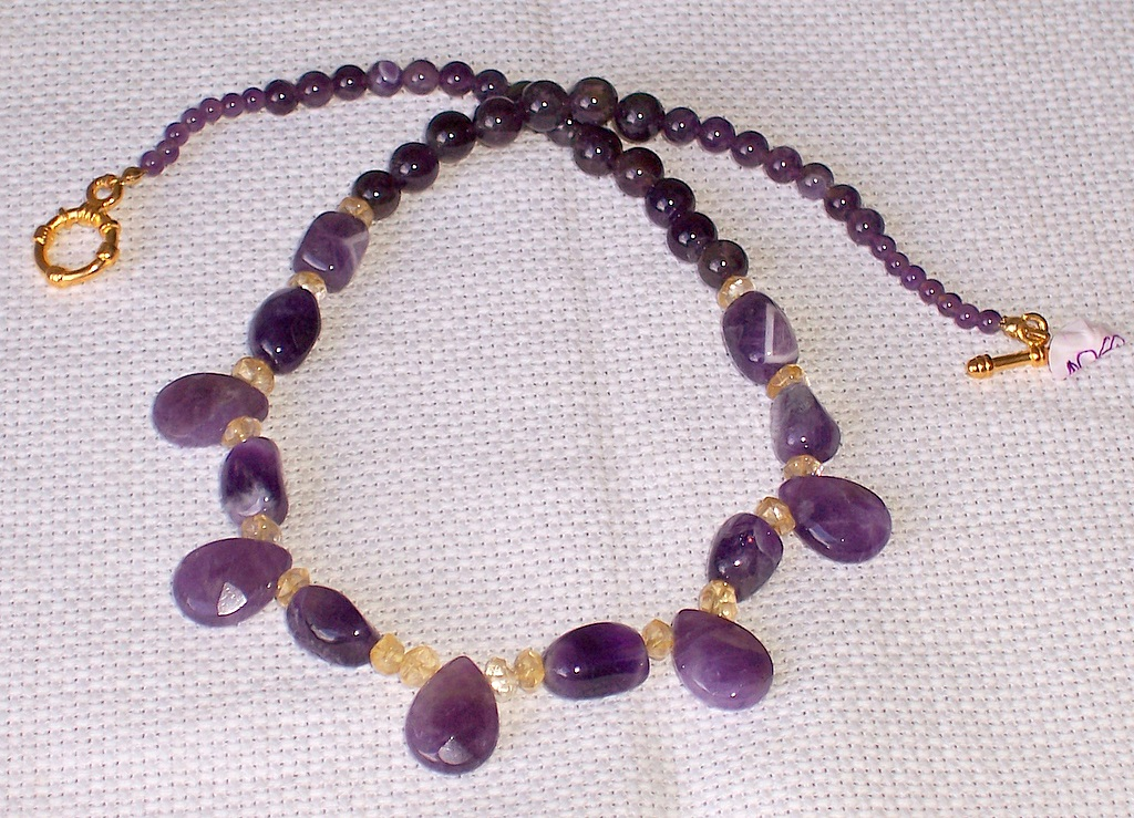 amethyst,citrine,necklace