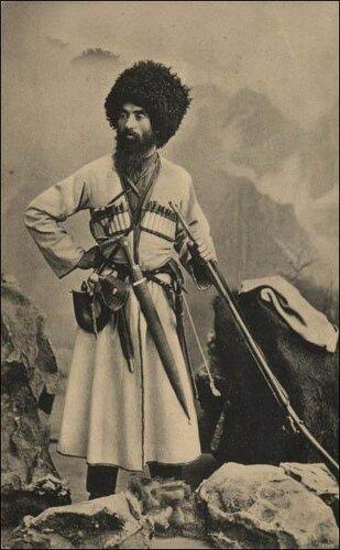 Осетин на российской открытке конца XIX века