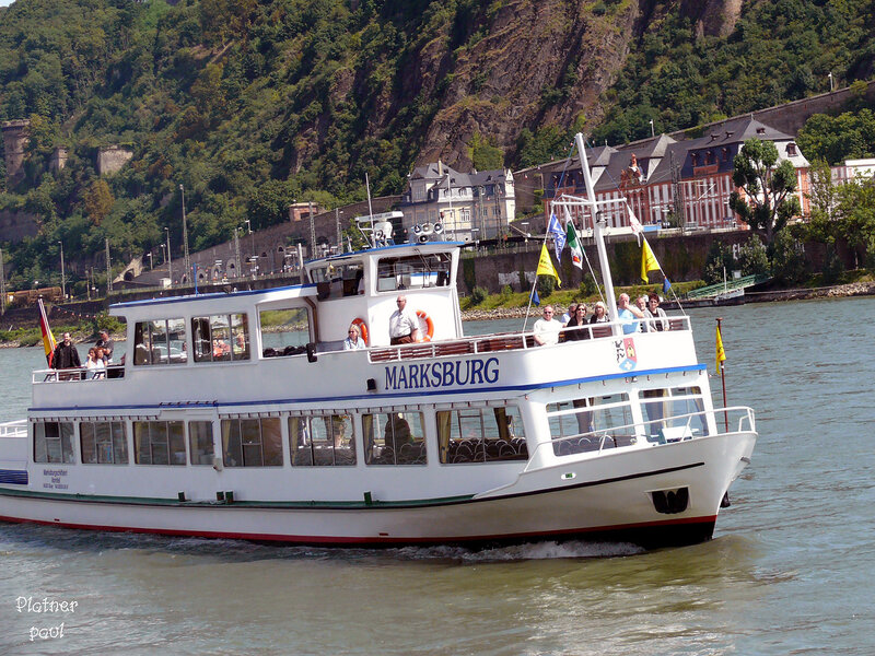 на кораблике по Рейну