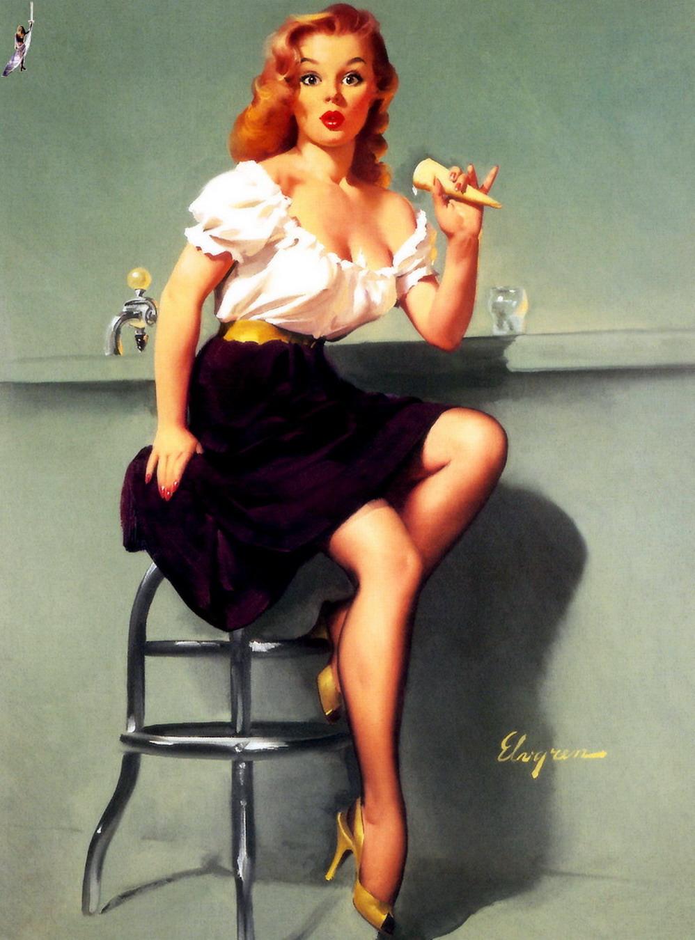 Рыжая девушка в стиле пип гел 5 фотография