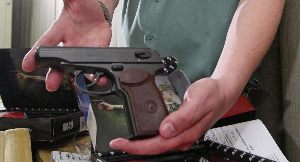 Пневматический пистолет. Архивное