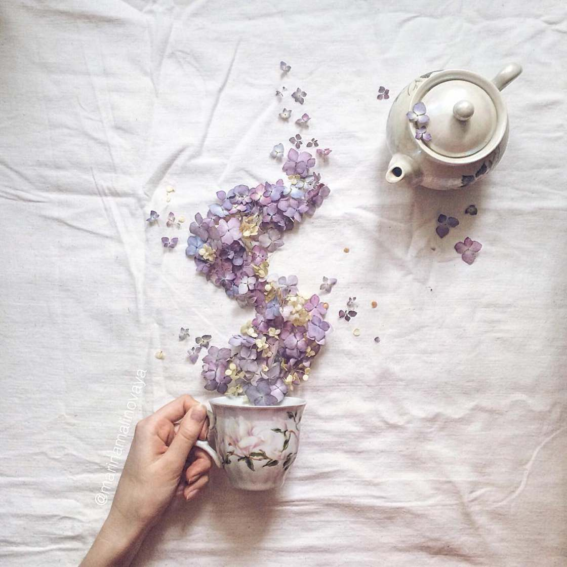 Floral Tea Story - The soft and poetic creations of Marina Malinovaya