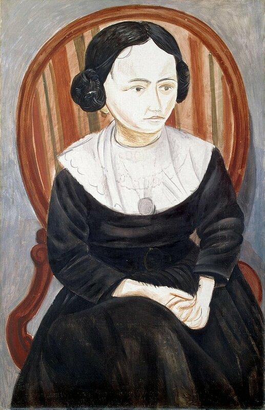 Дерен Андре, Девушка в черном,  1913 г., холст, масло, Эрмитаж