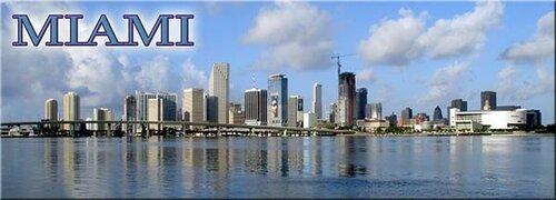 Fridge magnet with panoramic view of Miami Skyline, Florida, USA | eBay