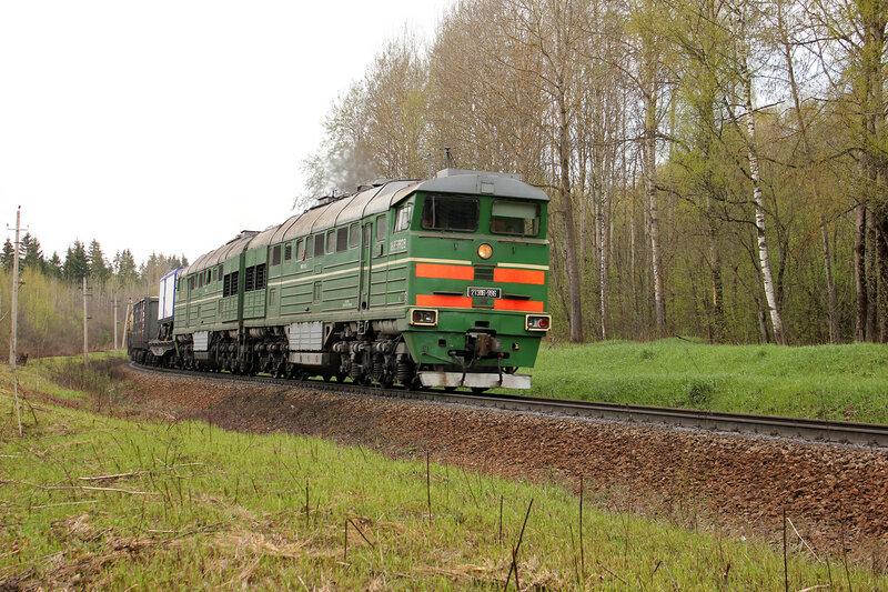 2ТЭ116-996 на перегоне Зубцов - Бартенево