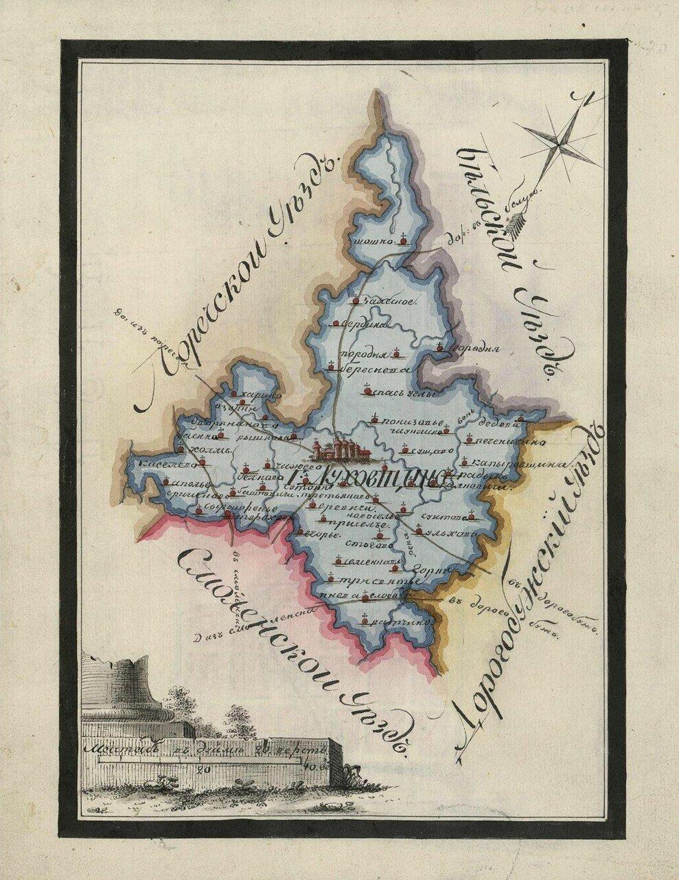 Карта Духовского уезда