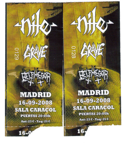 Between The Frost & Belphegor & Grave & Nile