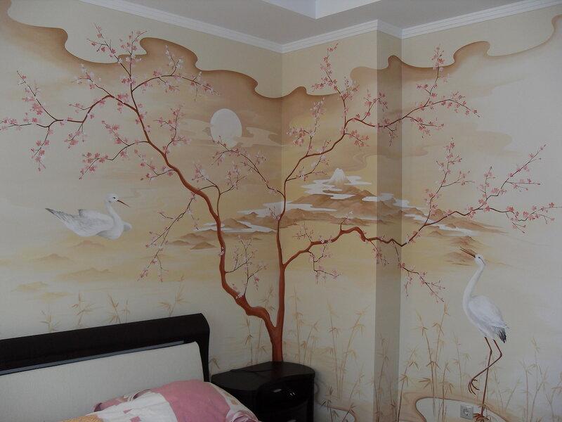 Разрисовка стен своими руками фото 2