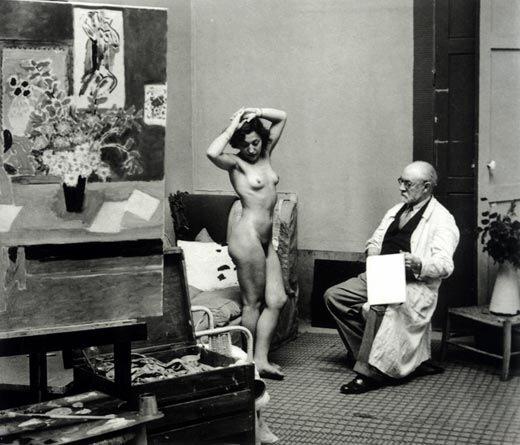 1939 год. Анри Матисс с натурщицей