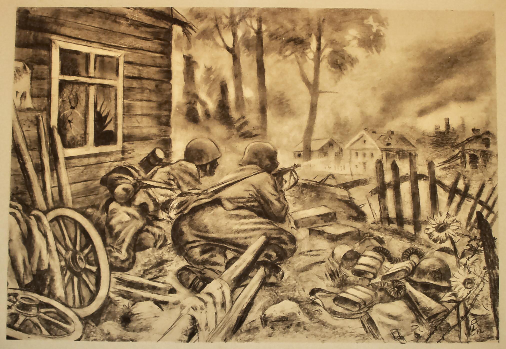 Рисунок солдаты своими руками