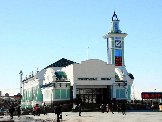 Новосибирск.  Пригородный вокзал.