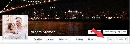 Facebook тестирует поиск по профилю