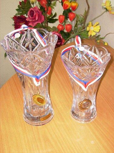 Хрустальные вазы за призовые места на World Dance Latino Festival