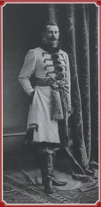 Князь Феликс Феликсович Юсупов в русском костюме.