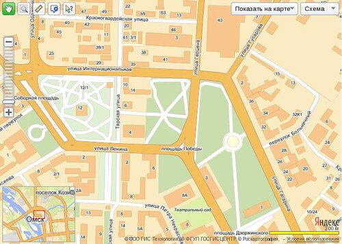 подробная цифровая карта Омска в интернете